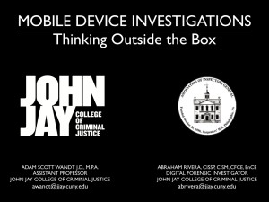 Mobile Device Investigations POST AIG 2013.001